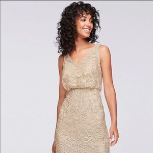 Davids Bridal Gold Formal Dress